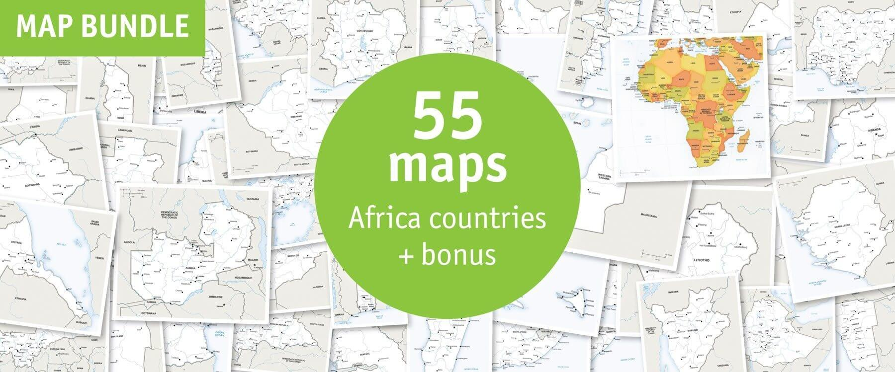 Buy 55 Vector Maps Africa Countries: Lowest Price 81% Off