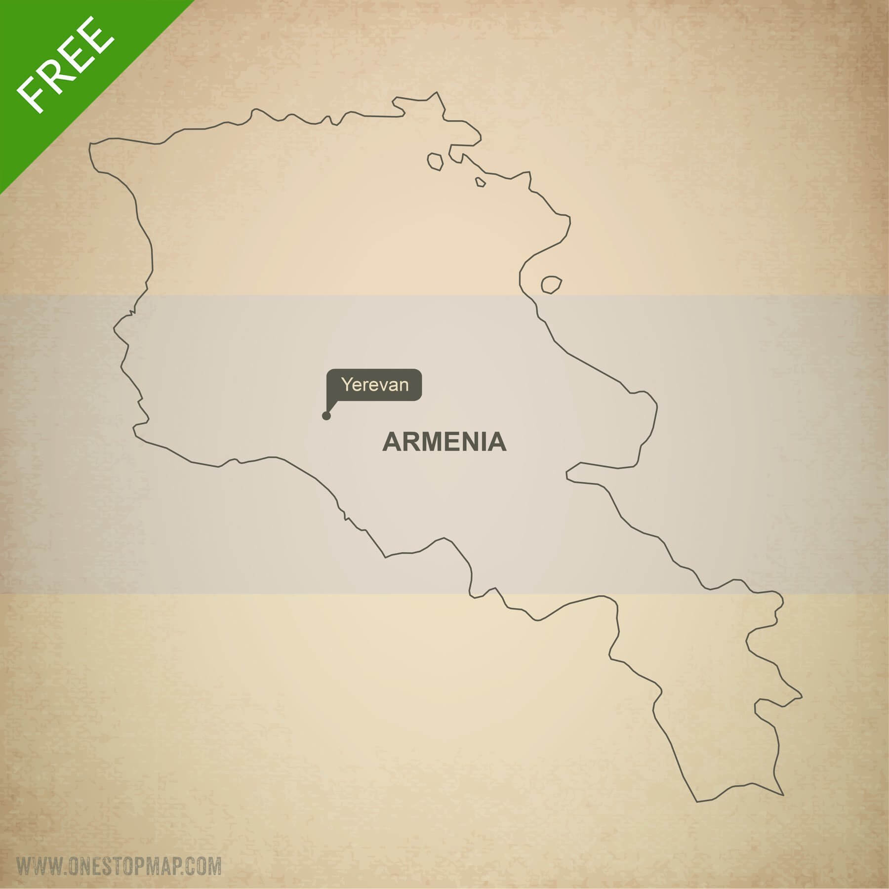Free vector map of Armenia outline