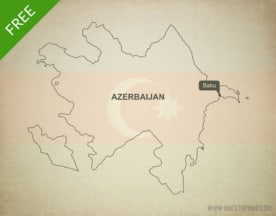 Free vector map of Azerbaijan outline