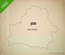 Free vector map of Belarus outline