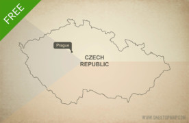 Free vector map of Czech Republic outline