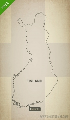 Free vector map of Finland outline