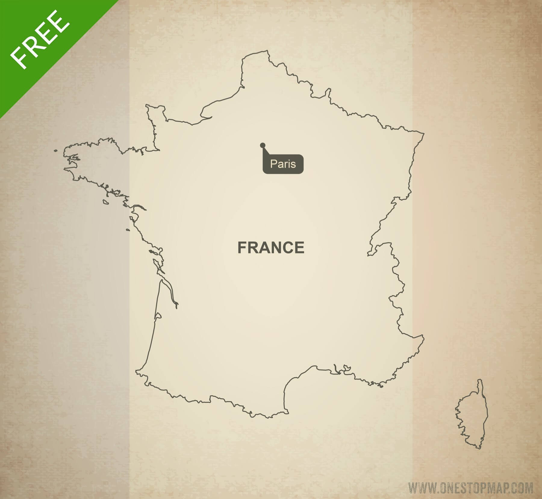 Map Of France Drawing.Free Vector Map Of France Outline One Stop Map
