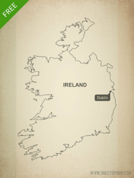 Free vector map of Ireland outline