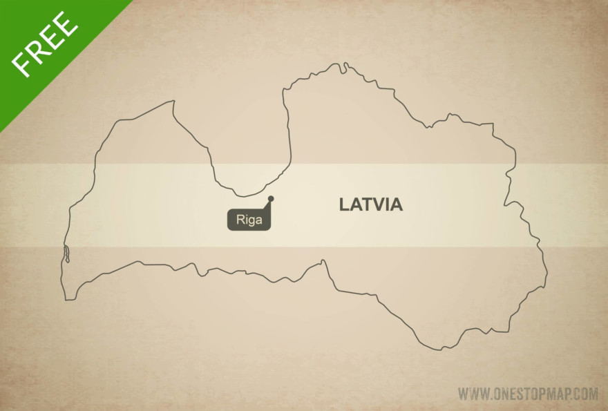 Free vector map of Latvia outline