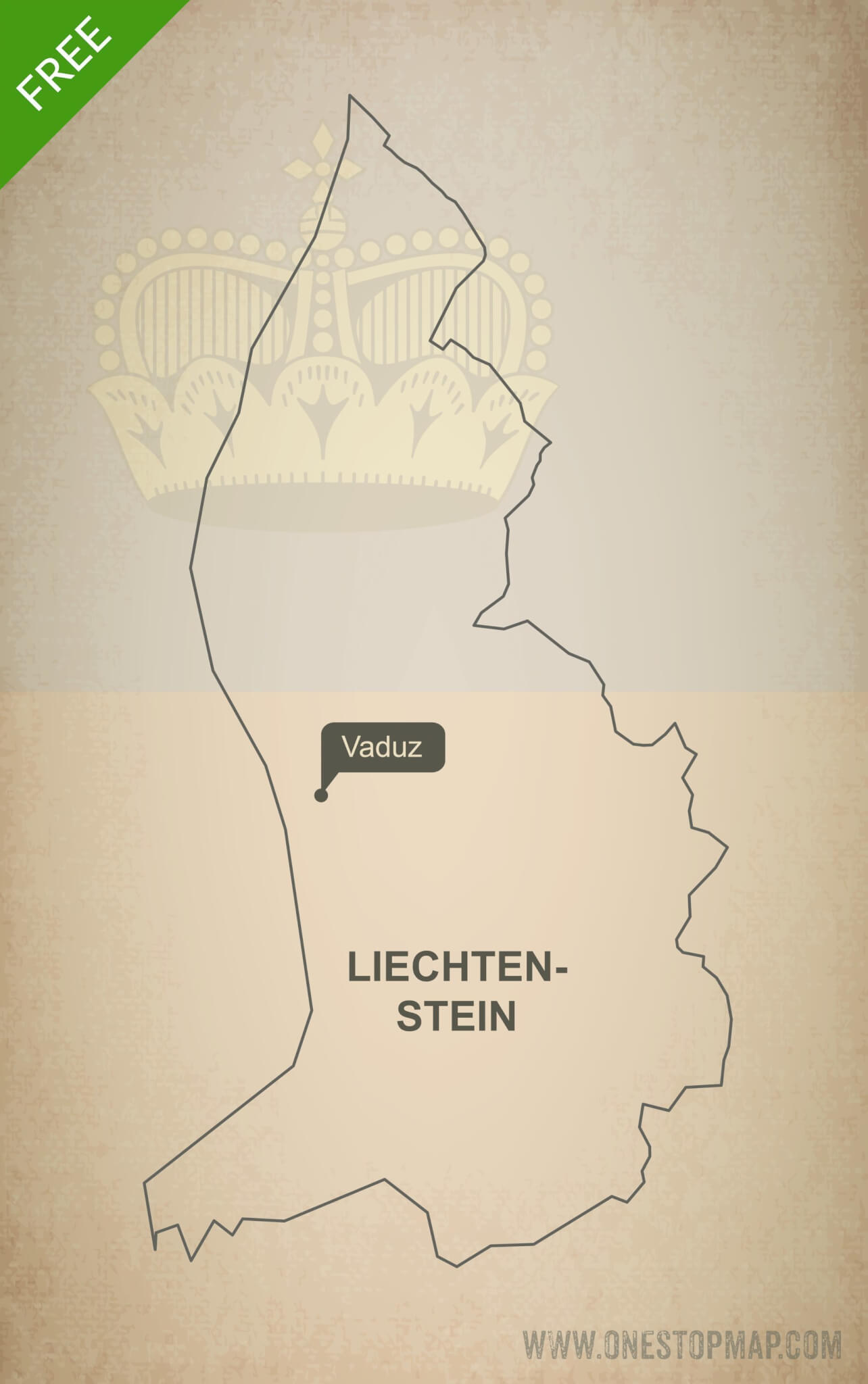 Free vector map of Liechtenstein outline