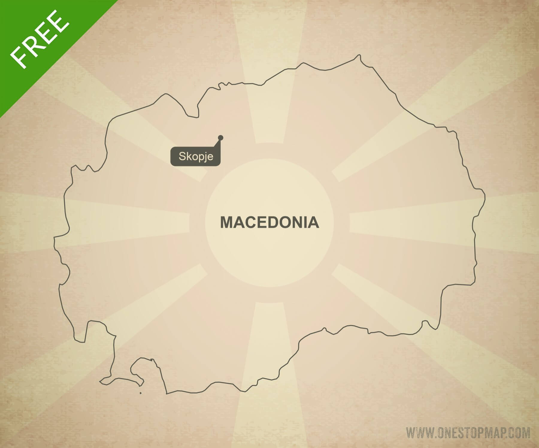 Free vector map of Macedonia outline