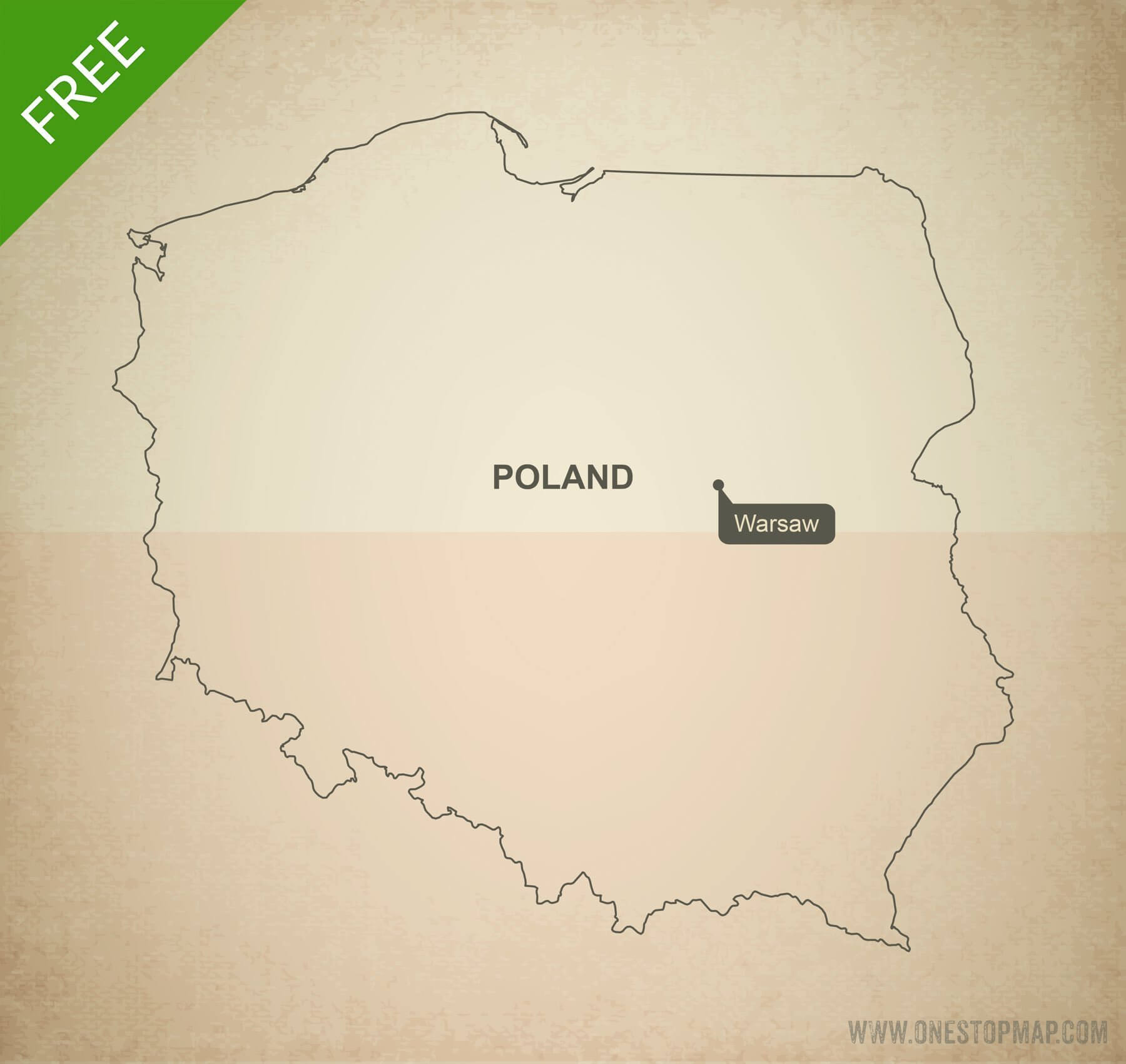 Free vector map of Poland outline