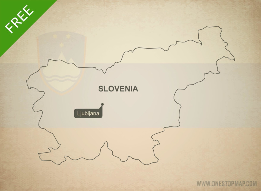 Free vector map of Slovenia outline