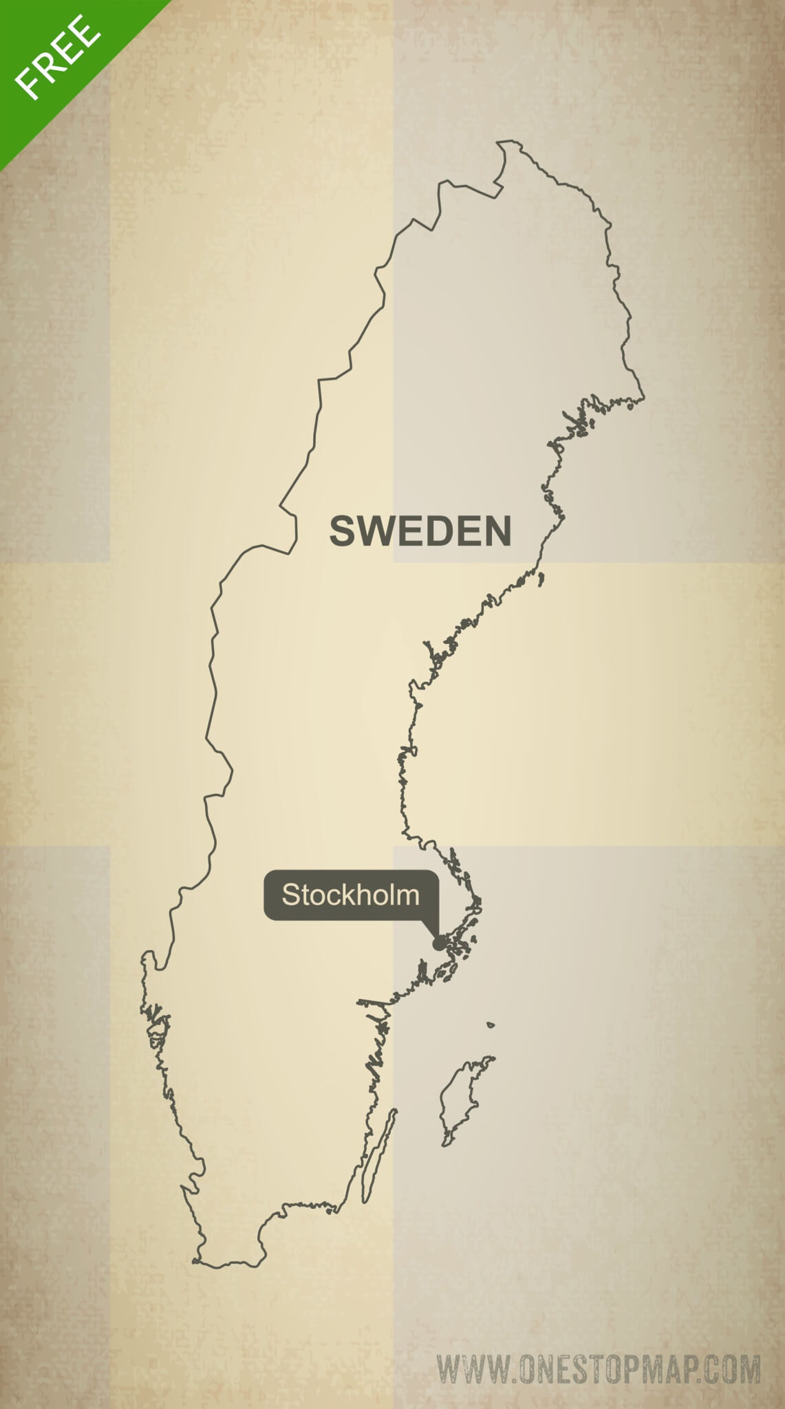 picture regarding Scandinavia Map Printable named Cost-free Vector Map of Sweden Determine A single Prevent Map