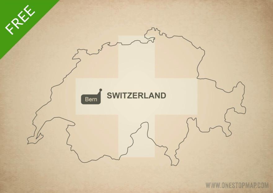 Free vector map of Switzerland outline