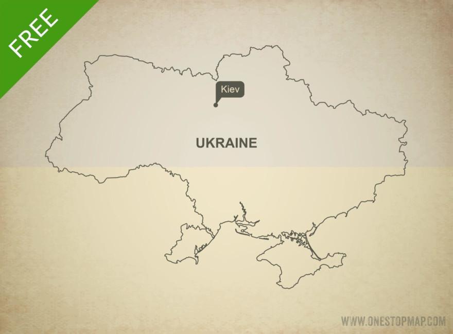 Free vector map of Ukraine outline
