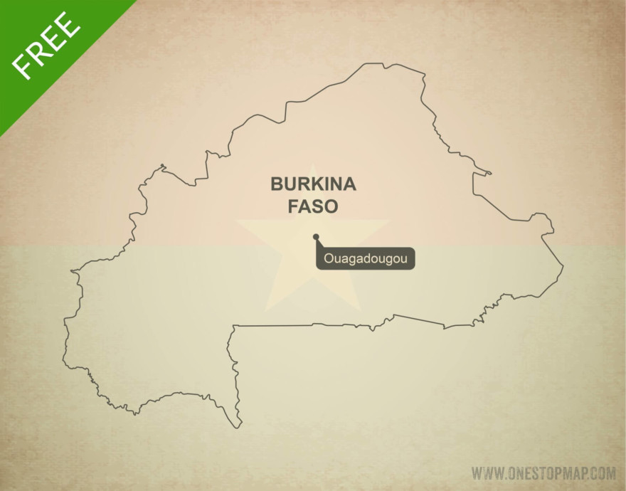 Free vector map of Burkina Faso outline