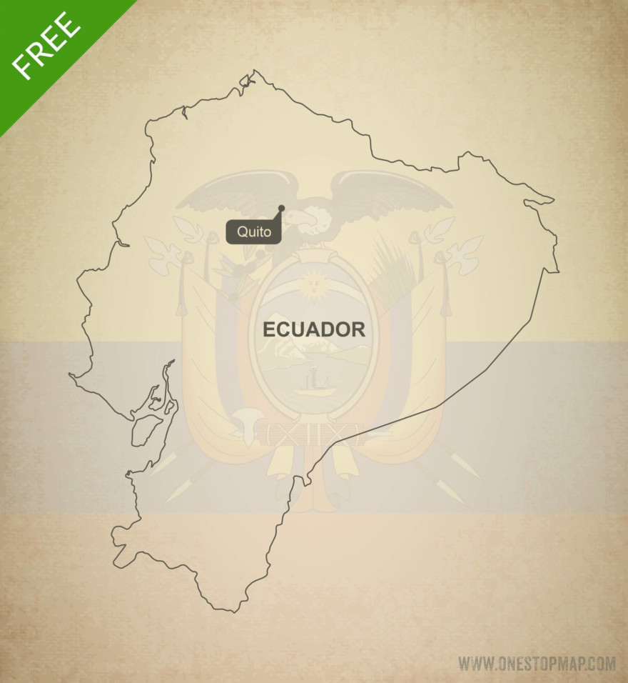 Free vector map of Ecuador outline