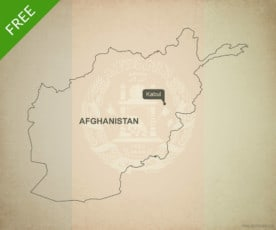 Free vector map of Afghanistan outline