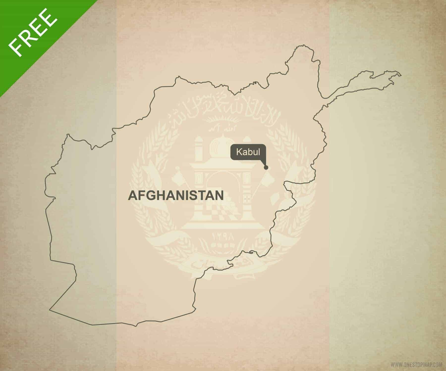free vector map of afghanistan outline one stop map