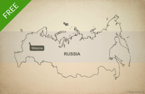 Free Vector Map Of Russia Outline One Stop Map - Map of russia