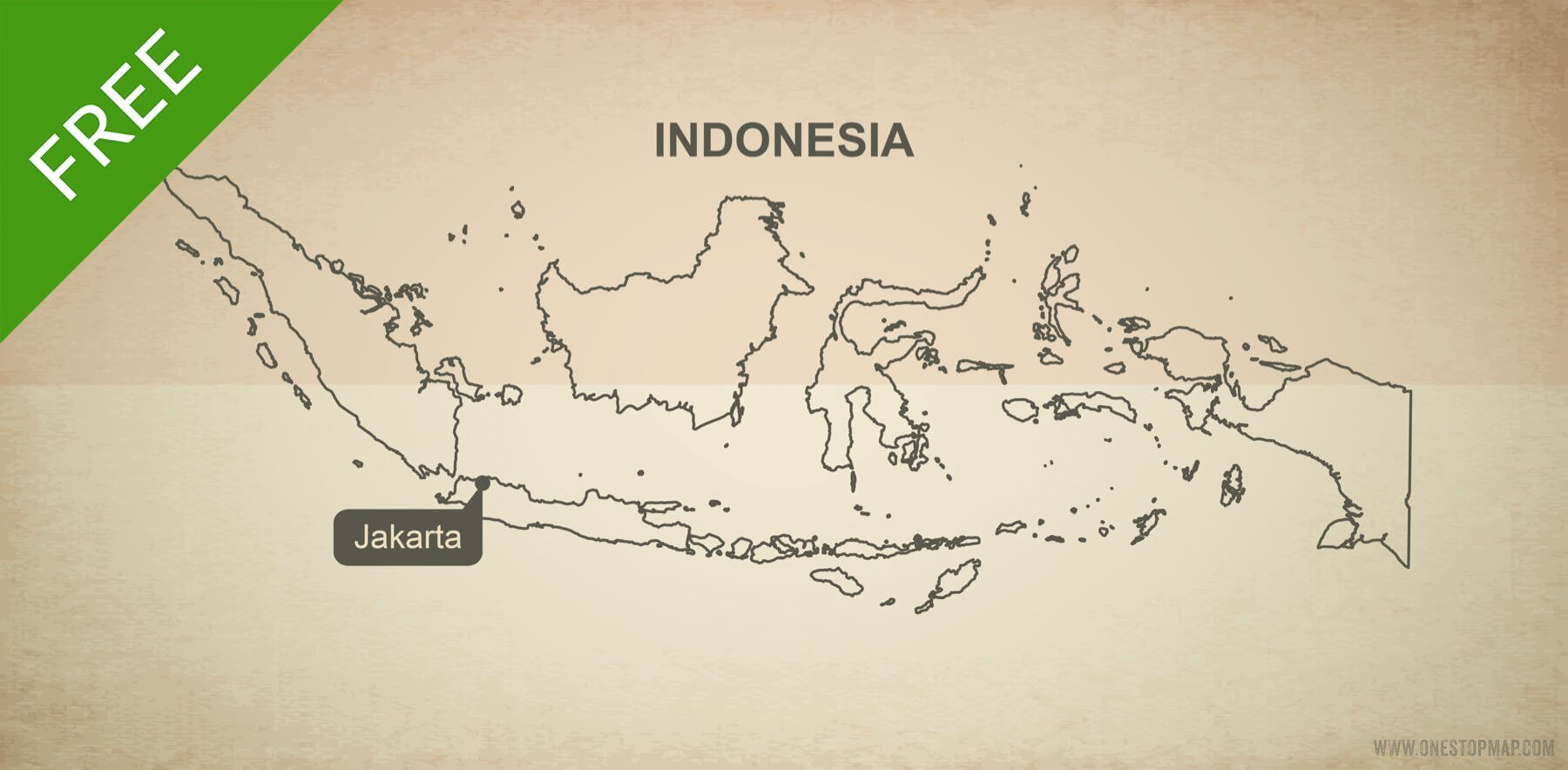 Free vector map of Indonesia outline