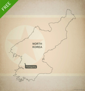 Free vector map of North Korea outline