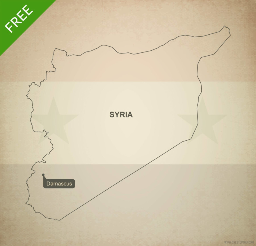Free vector map of Syria outline