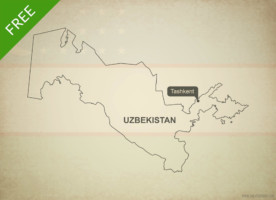 Free vector map of Uzbekistan outline