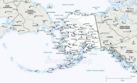 Vector map of Alaska political