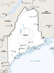 Lively image for printable map of maine
