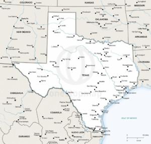 Texas Political Map 2015