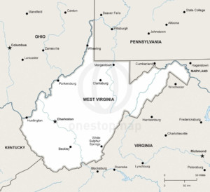 Vector Map Of West Virginia Political One Stop Map - Map west virginia