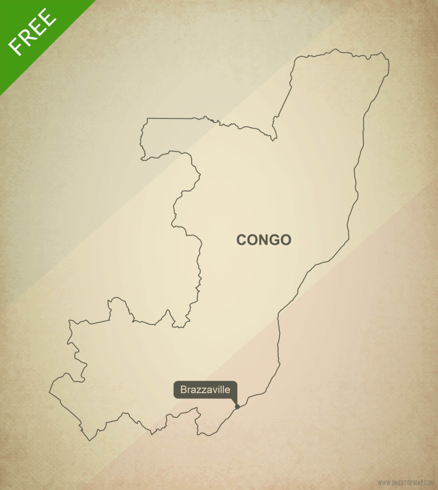 Free vector map of Congo outline
