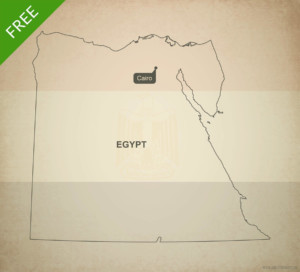 Free Vector Map Of Egypt Outline One Stop Map - Map of egypt outline