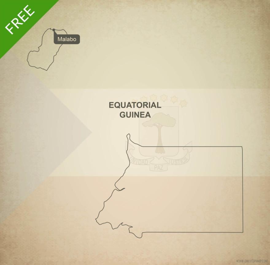 Free vector map of Equatorial Guinea outline