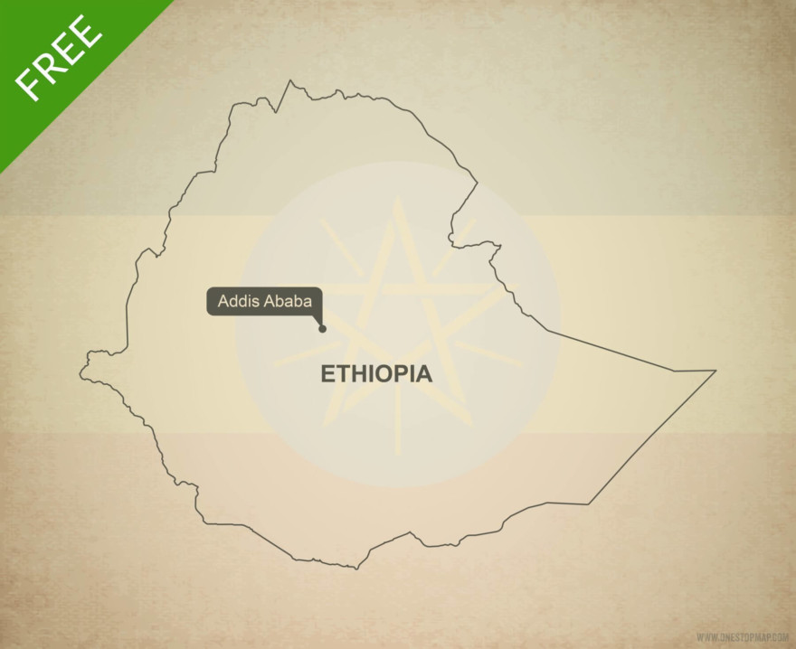 Free vector map of Ethiopia outline