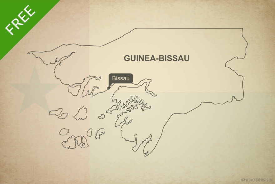 Free vector map of Guinea Bissau outline