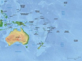 Vector map of Australia continent political with shaded relief