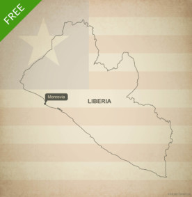 Free vector map of Liberia outline