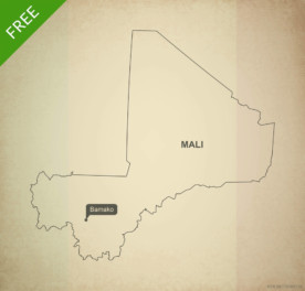 Free vector map of Mali outline