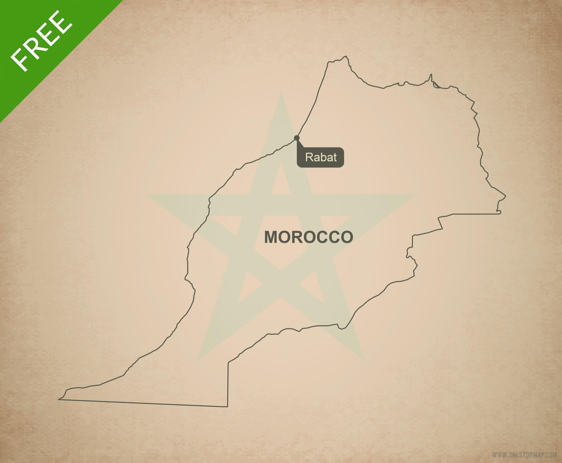 Free vector map of Morocco outline