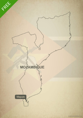 Free vector map of Mozambique outline