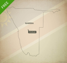 Free vector map of Namibia outline
