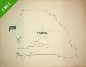 Free vector map of Senegal outline