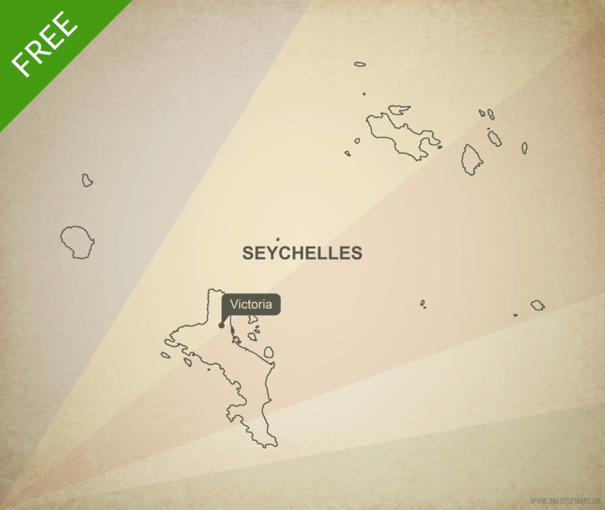 Free vector map of Seychelles outline