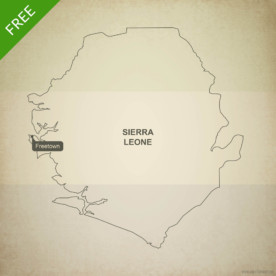 Free vector map of Sierra Leone outline