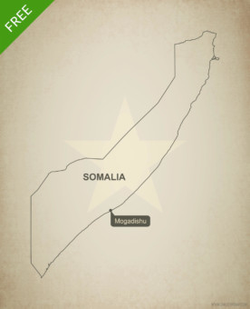 Free vector map of Somalia outline