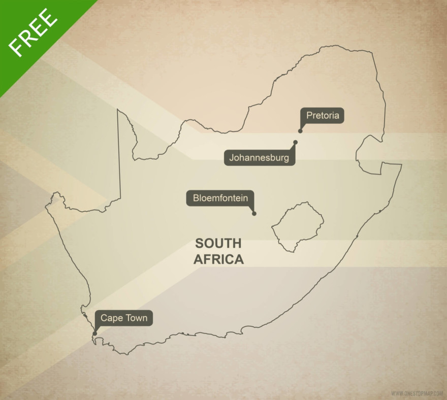 Free vector map of South Africa outline