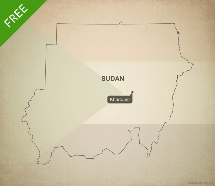 Free vector map of Sudan outline