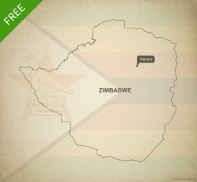 Free vector map of Zimbabwe outline