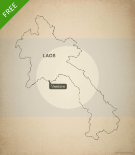 Free vector map of Laos outline