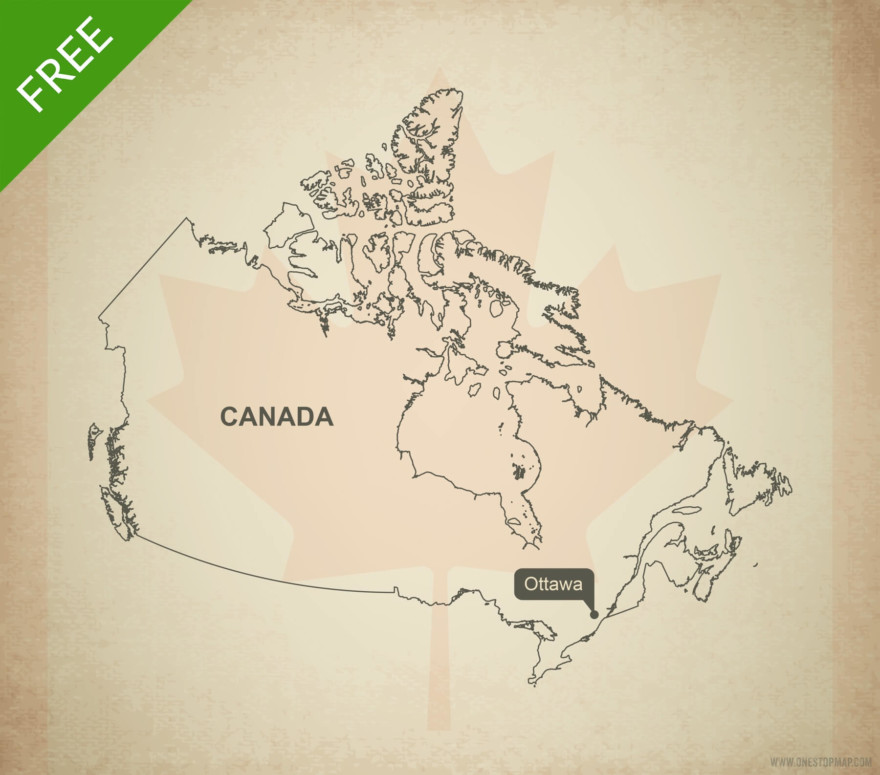 Free vector map of Canada outline
