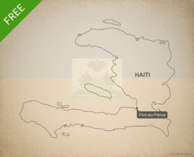 Free vector map of Haiti outline